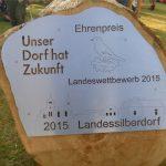 Plakette zum Landessilberdorf
